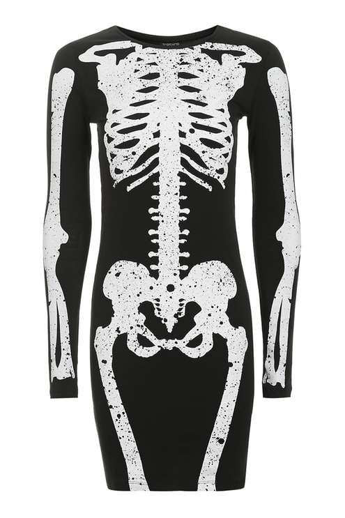 Skeleton Bodycon Dress £28.00 Click to visit Topshop
