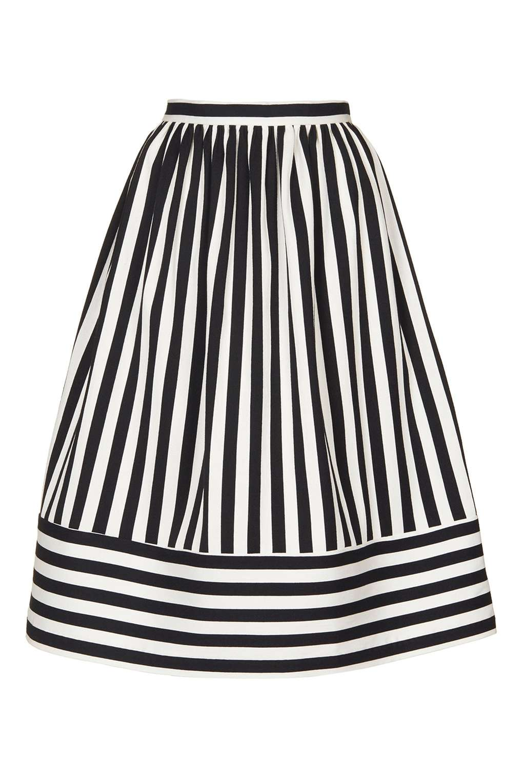 Cutabout Stripe Midi Skirt £50.00 Click to visit Topshop