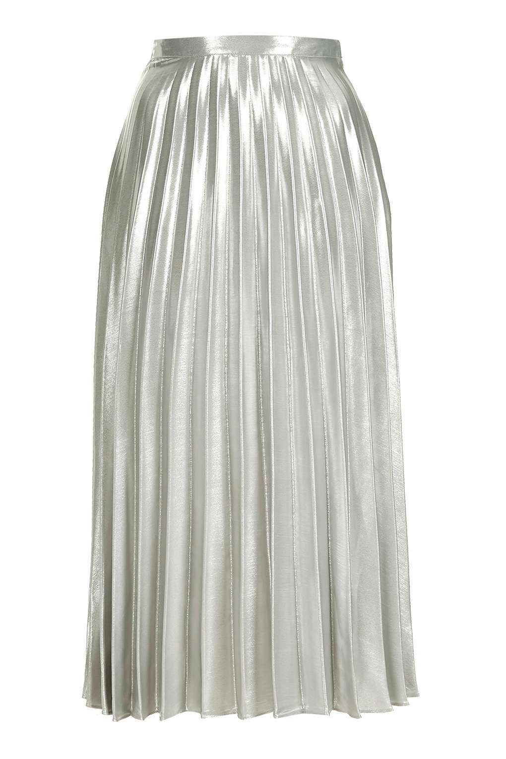 TALL Metallic Pleat Skirt £68.00 Click to visit Topshop