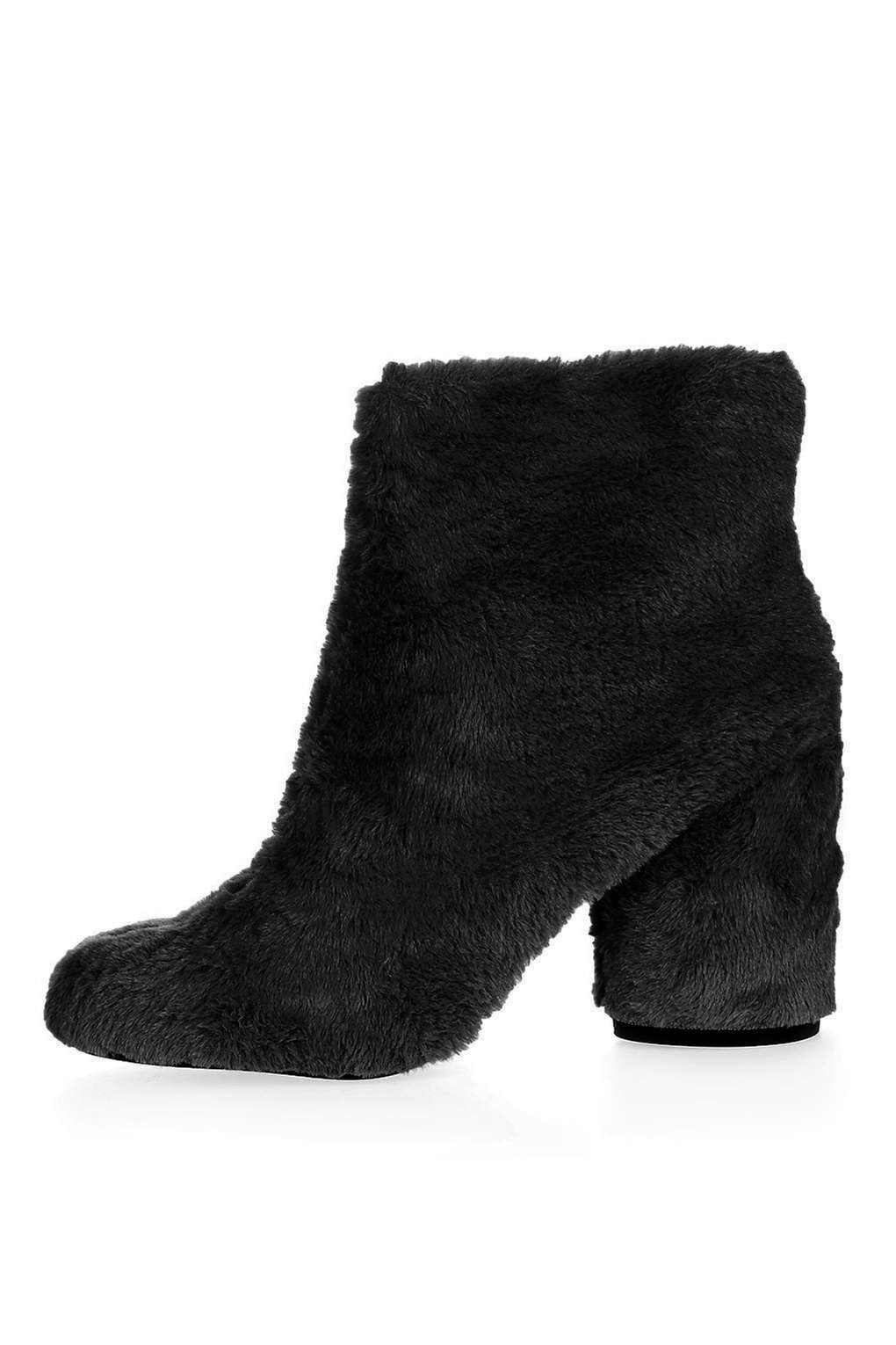 HAIRY-HARRY Fur Ankle Boots £69.00 Click to visit Topshop