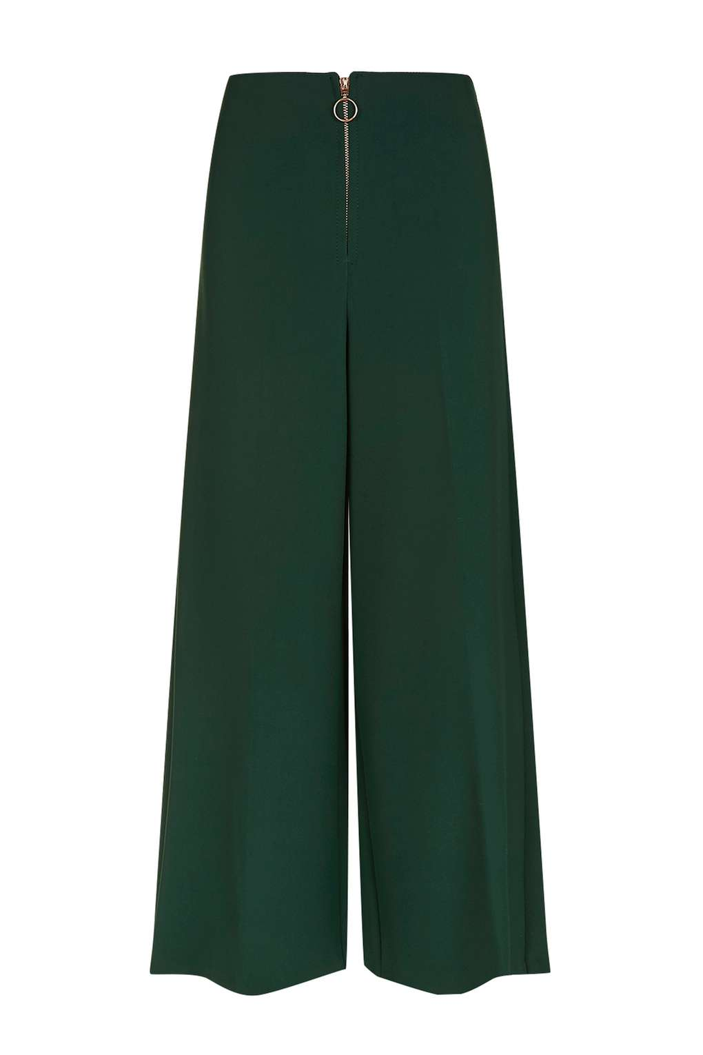 Zip Front Cropped Wide Leg Trousers £40.00 Click to visit Topshop