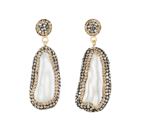 Baroque Pearl Double Sided Earrings, Gold £130.00 Click to visit Soru Jewellery
