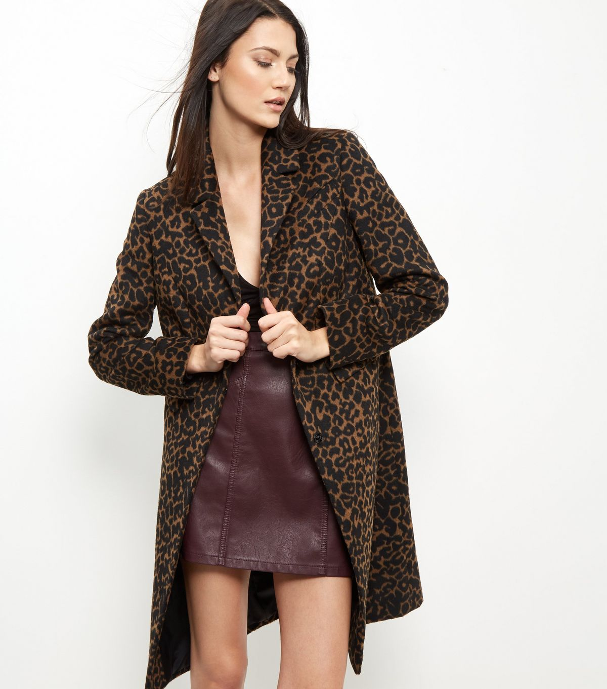Brown Leopard Print Coat £49.99 Click to visit New Look
