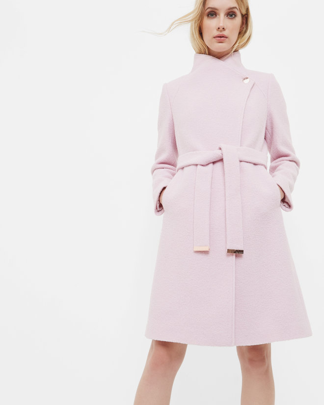 SAFIERA Long wrap wool coat £329 Click to visit Ted Baker