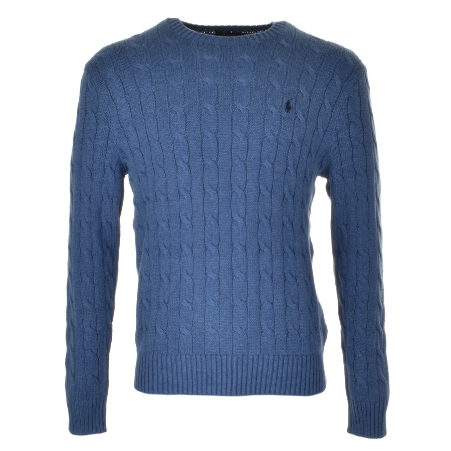 Ralph Lauren Cable Knit Jumper Blue £115 Click to visit Mainline Menswear