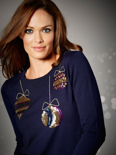 Christmas bauble jumper Details http://www.mandco.com/christmas-bauble-jumper-navy/1012223.html Product Number: 1012223 Colour: NAVY £29.00 Click to visit M&Co