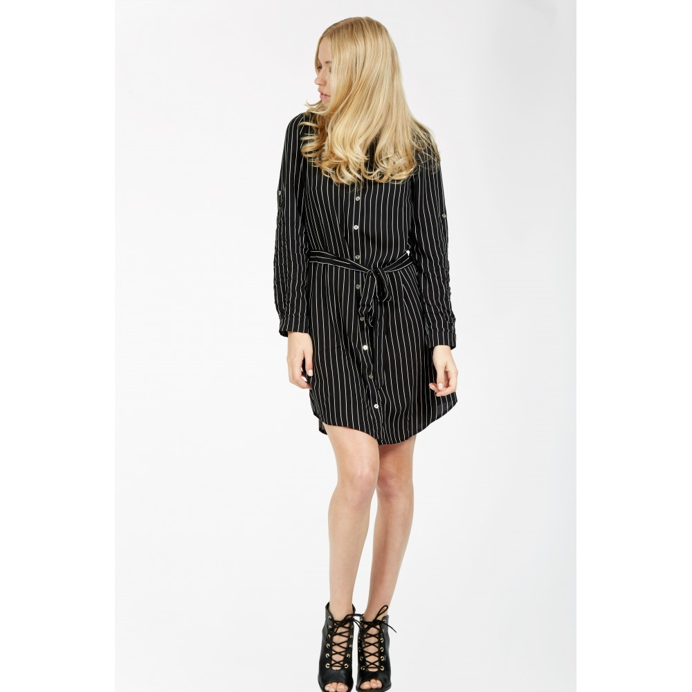 PINSTRIPE VISCOSE SHIRT DRESS was £19.99 now £9.99 Click to visit Select