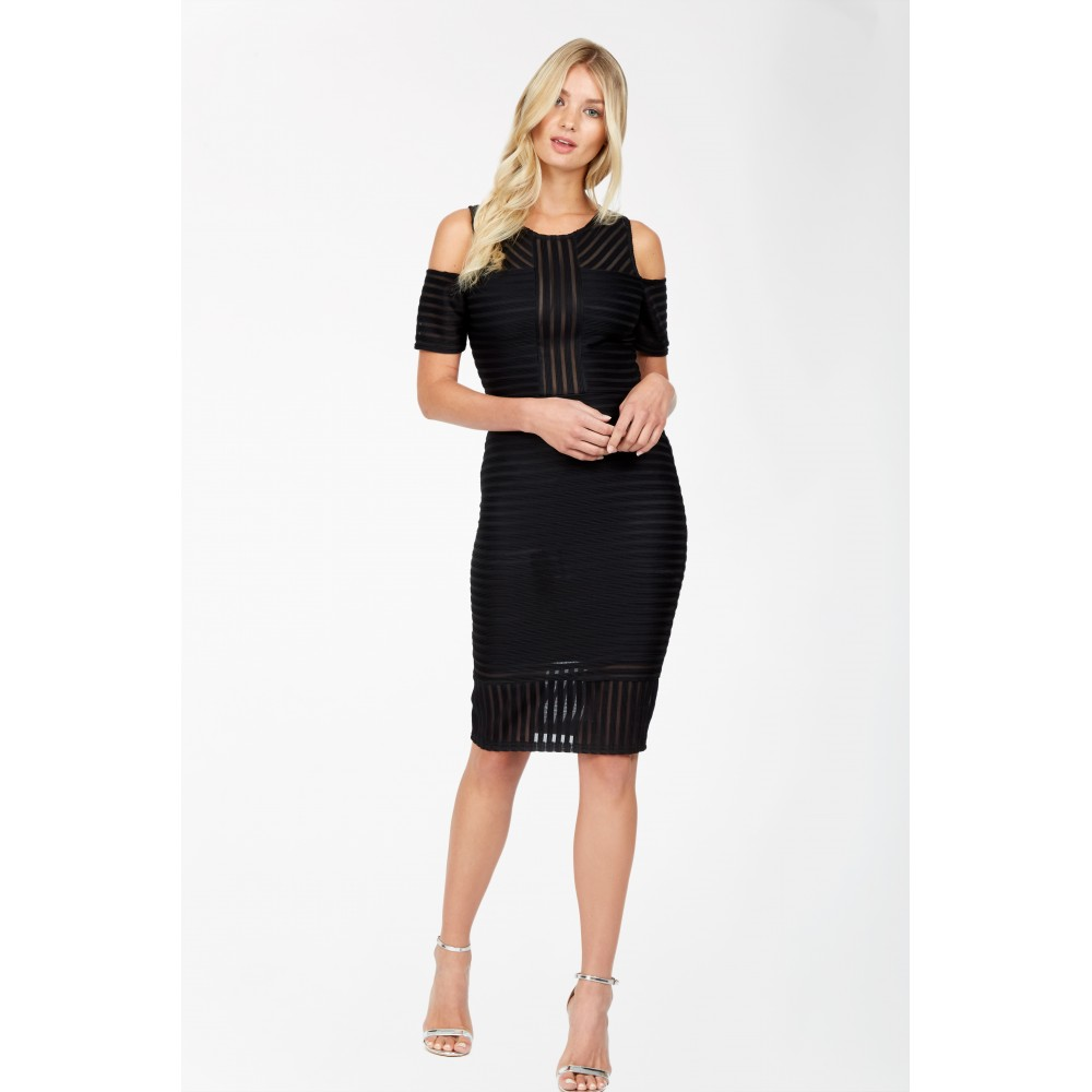 COLD SHOULDER LINEAR BODYCON DRESS was £15.99 now £7.99