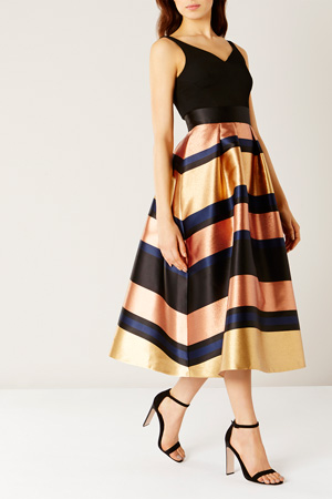 RITA METALIC STRIPE DRESS Now£139.00 Click to visit Coast