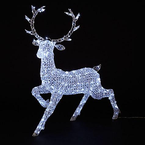 John Lewis Crystal Reindeer 300 LED Indoor / Outdoor Christmas Light £200 Click to visit John Lewis