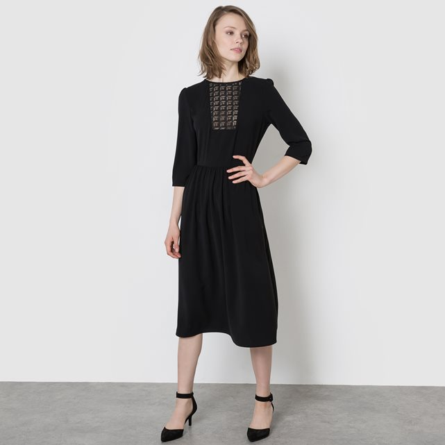 MADEMOISELLE R Lace Panel Midi Dress £59 £35.40 with discount Click to visit La Redoute