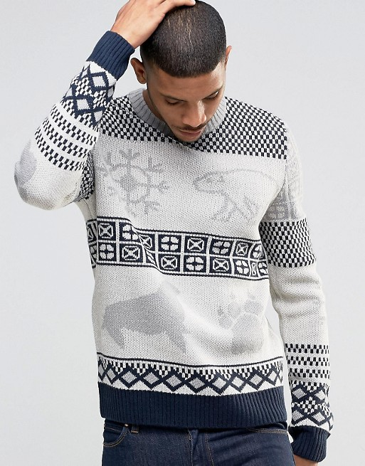 Bellfield Christmas Knitted Jumper With Polar Bear Jacquard £40.00 Click to visit ASOS