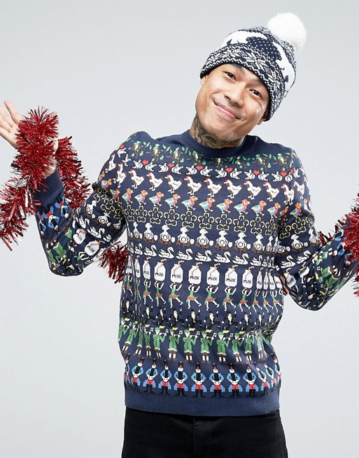 ASOS Christmas Jumper with 12 Days of Christmas £30.00 Click to visit ASOS