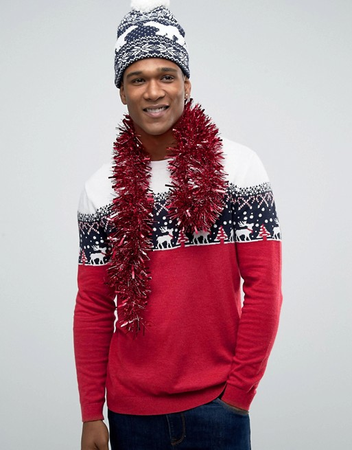ASOS Christmas Jumper with Cashmere £35.00 Click to visit ASOS