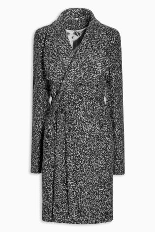 Black/White Belted Coat £65 Click to visit Next
