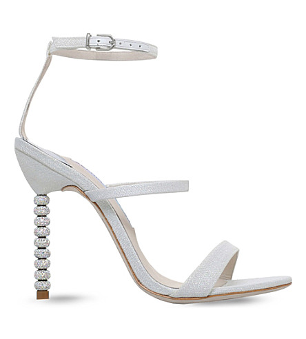 SOPHIA WEBSTER Rosalind crystal-embellished heeled sandals £395.00 Click to visit Selfridges