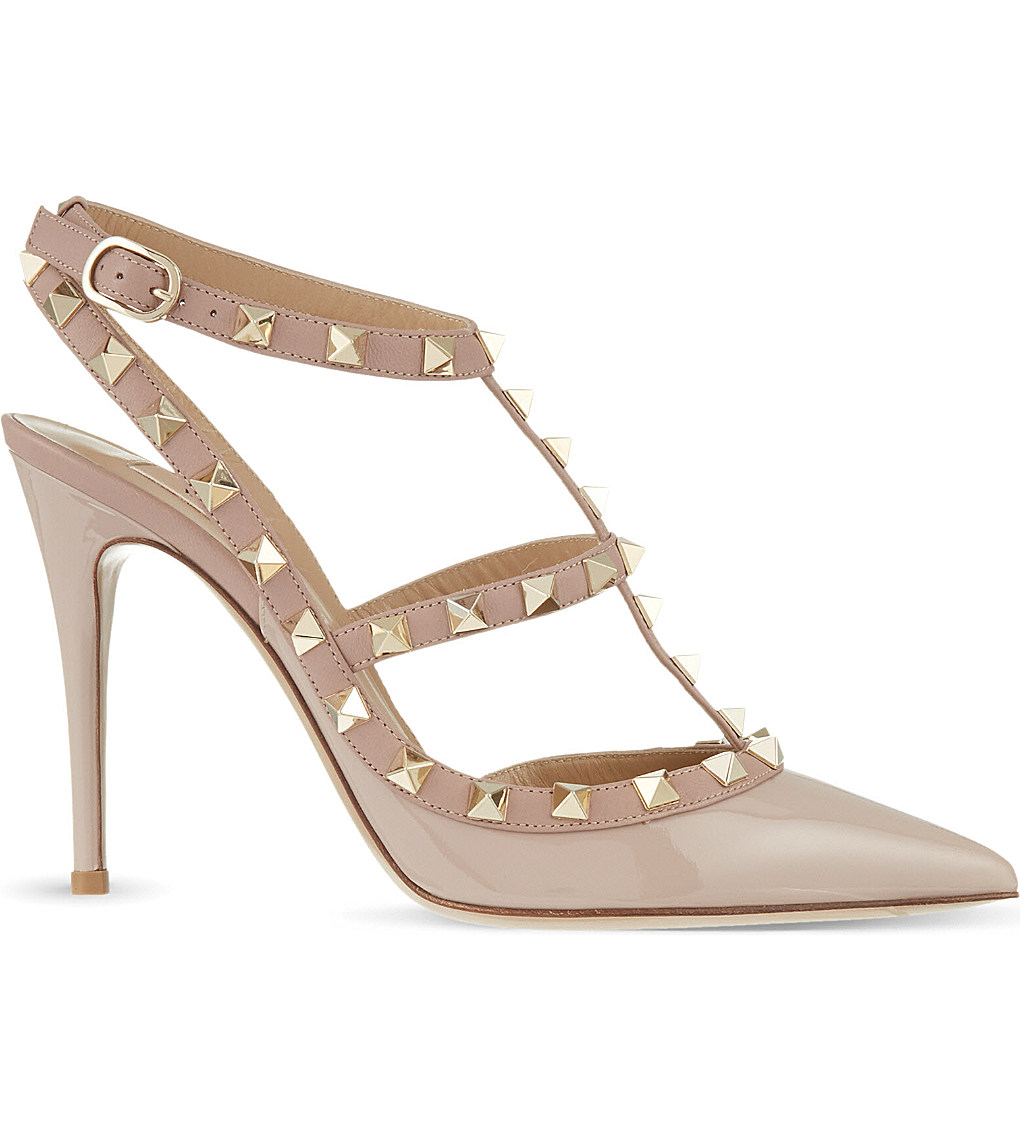 VALENTINO Rockstud patent leather heels £620.00 Click to visit Selfridges