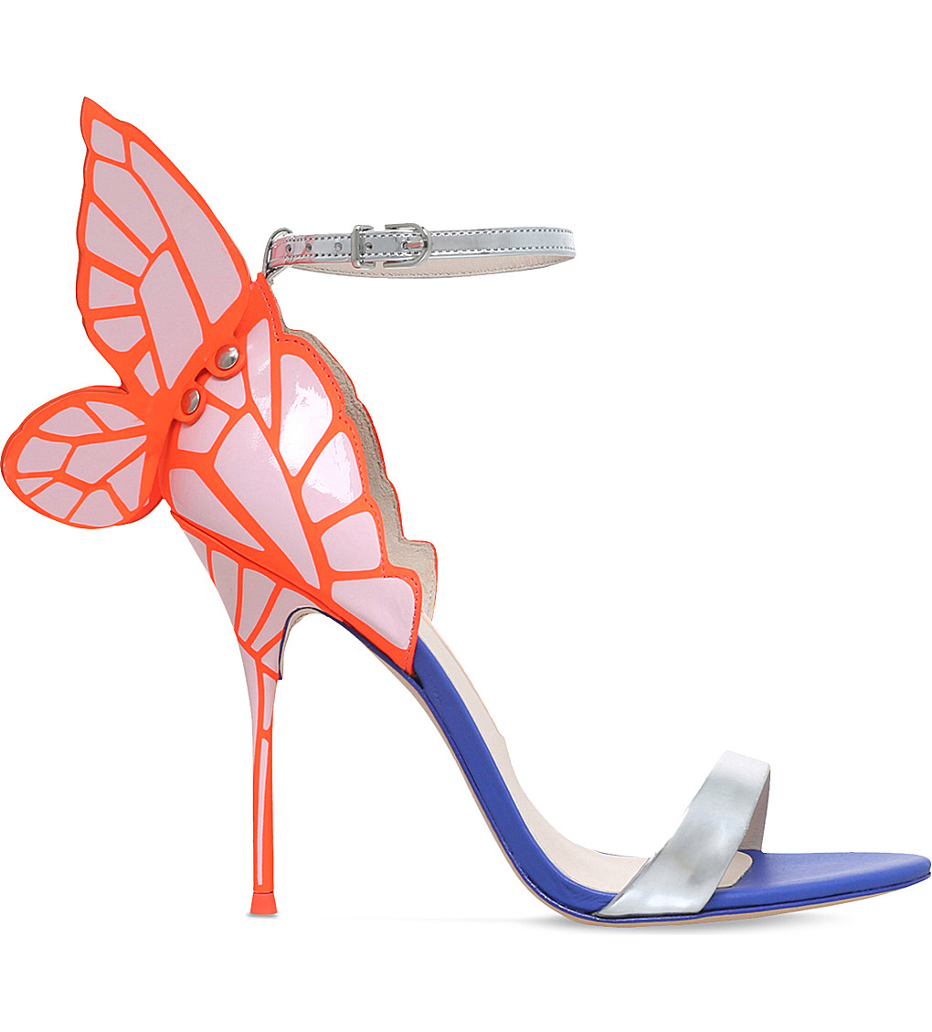SOPHIA WEBSTER Chiara leather butterfly heeled sandals £435.00 Click to visit Selfridges