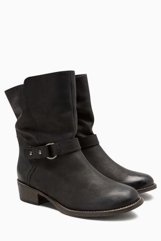 Leather Casual Strap Ankle Boots £65 Click to visit Next