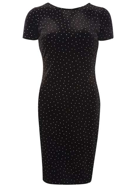 Black Glitter Spot Bodycon Dress Was £28.00 Now £25.20 Click to visit Dorothy Perkins