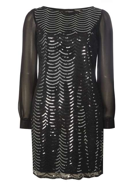 Gunmetal Sequin Shift Was £38.00 Now £28.50 Click to visit Dorothy Perkins