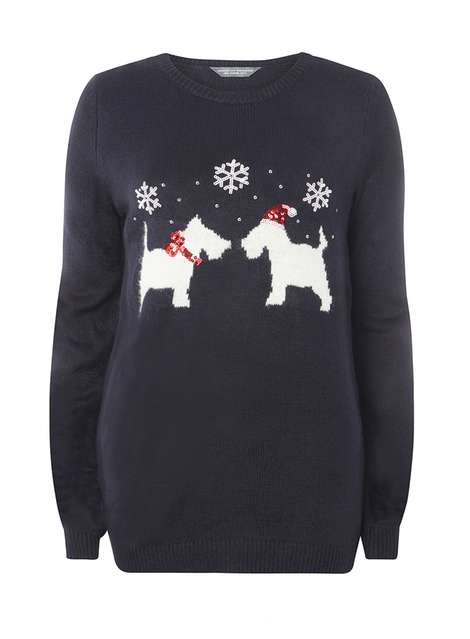 **Tall Navy Scotty Dog Jumper Was £26.00 Now £23.40 Click to visit Dorothy Perkins