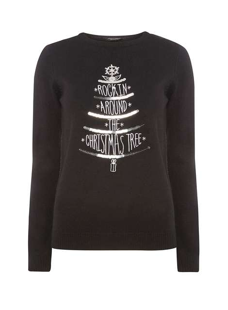 Black Rocking Around Jumper Was £28.00 Now £25.20 Click to visit Dorothy Perkins