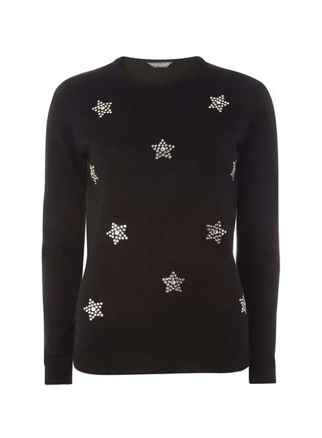**Tall Star Embellished Jumper Was £28.00 Now £25.20 Click to visit Dorothy Perkins