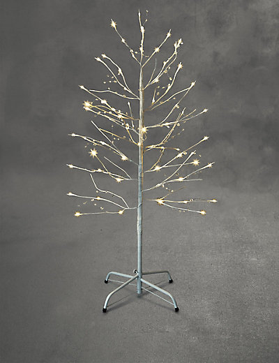 4ft White Outdoor Gem Tree £40 Click to visit M&S
