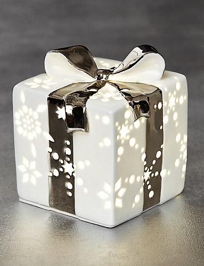 Lit White Ceramic Gift Box £12.50 Click to visit M&S
