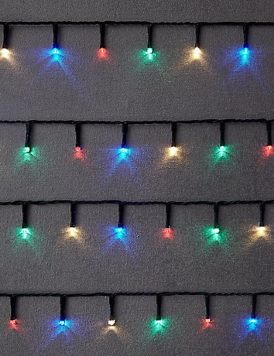 100 Multi Outdoor Lights £19.50 Click to visit M&S