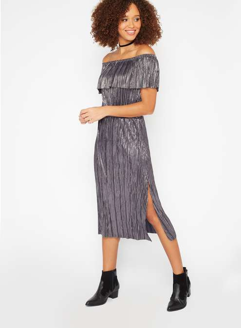 Plisse Bardot Midi Dress £35.00 (Discounted on Black Friday to £17.50) Click to visit Miss Selfridge