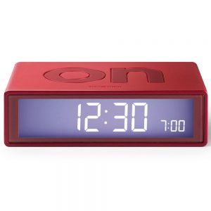 metallic-red-lexon-flip-alarm-clock-300x300