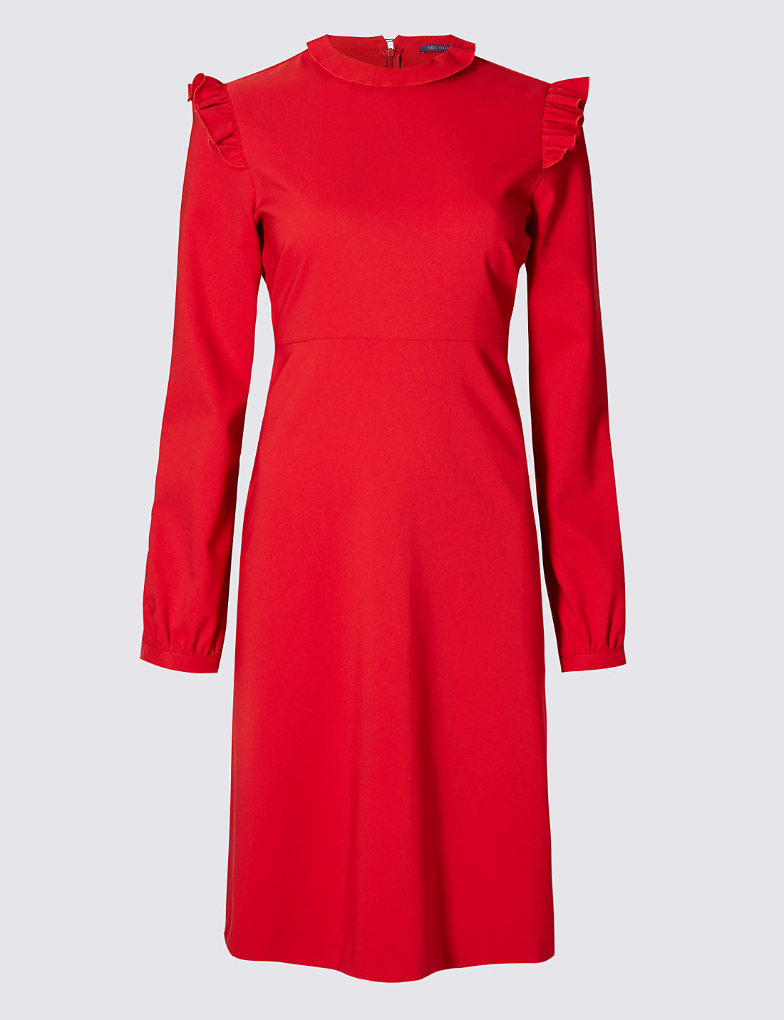 M&S COLLECTION High Neck Ruffle Long Sleeve Swing Dress £39.50 Click to visit M&S