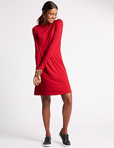 M&S COLLECTION Long Sleeve Fit & Flare Dress £19.50 Click to visit M&S