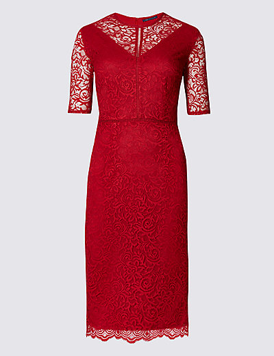 M&S COLLECTION Half Sleeve Lace Bodycon Dress £49.50 Click to visit M&S