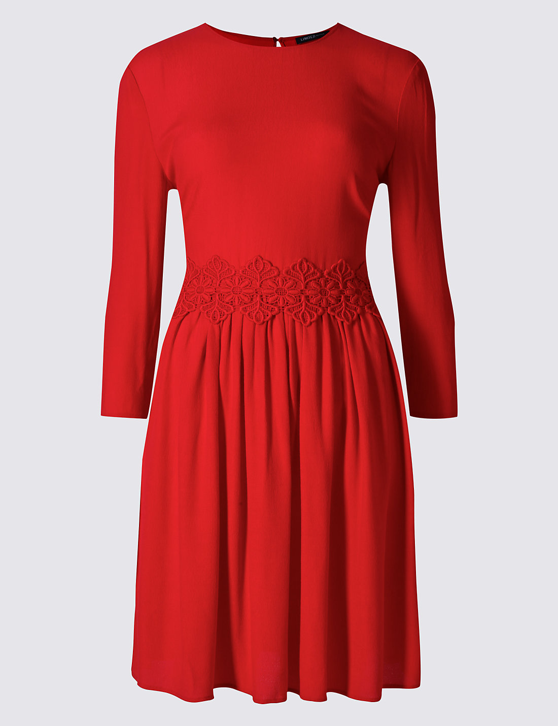 LIMITED EDITION New Crochet Smoke Lined 3/4 Sleeve Swing Dress £39.50 Click to visit M&S