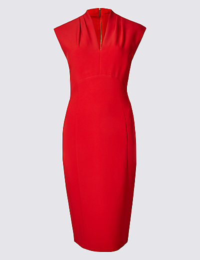 PER UNA Cap Sleeve Bodycon Dress T424166 £39.50 Click to visit M&S