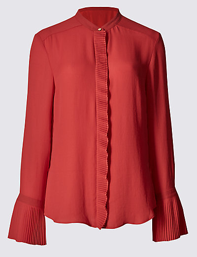 PER UNA Frill Collared Neck Long Sleeve Blouse £39.50 Click to visit M&S