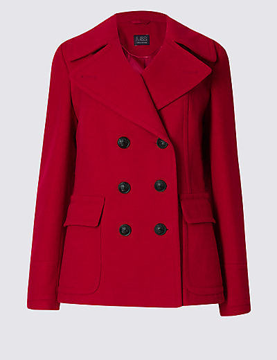 M&S COLLECTION Peacoat Jacket £45 Click to visit M&S