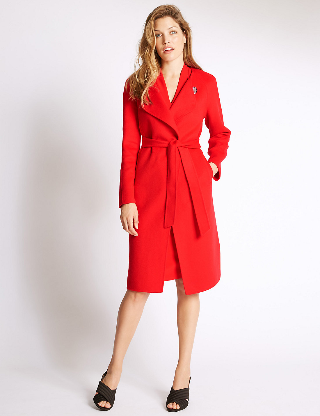 PER UNA New Belted Overcoat with Wool £99.00 Click to visit M&S