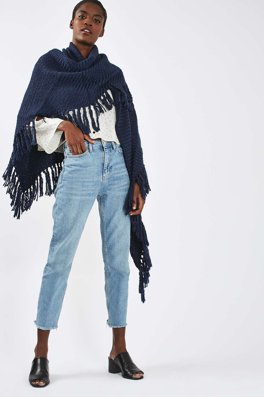 Knit Tassel Wrap Was £28.00 Now £12.00Click to visit Topshop
