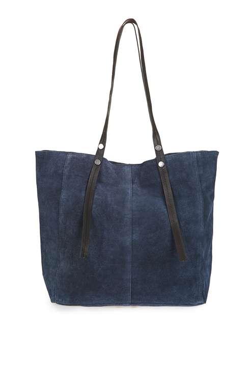 Leather Rivet Detail Shopper Bag Was £38.00 Now £18.00Click to visit Topshop