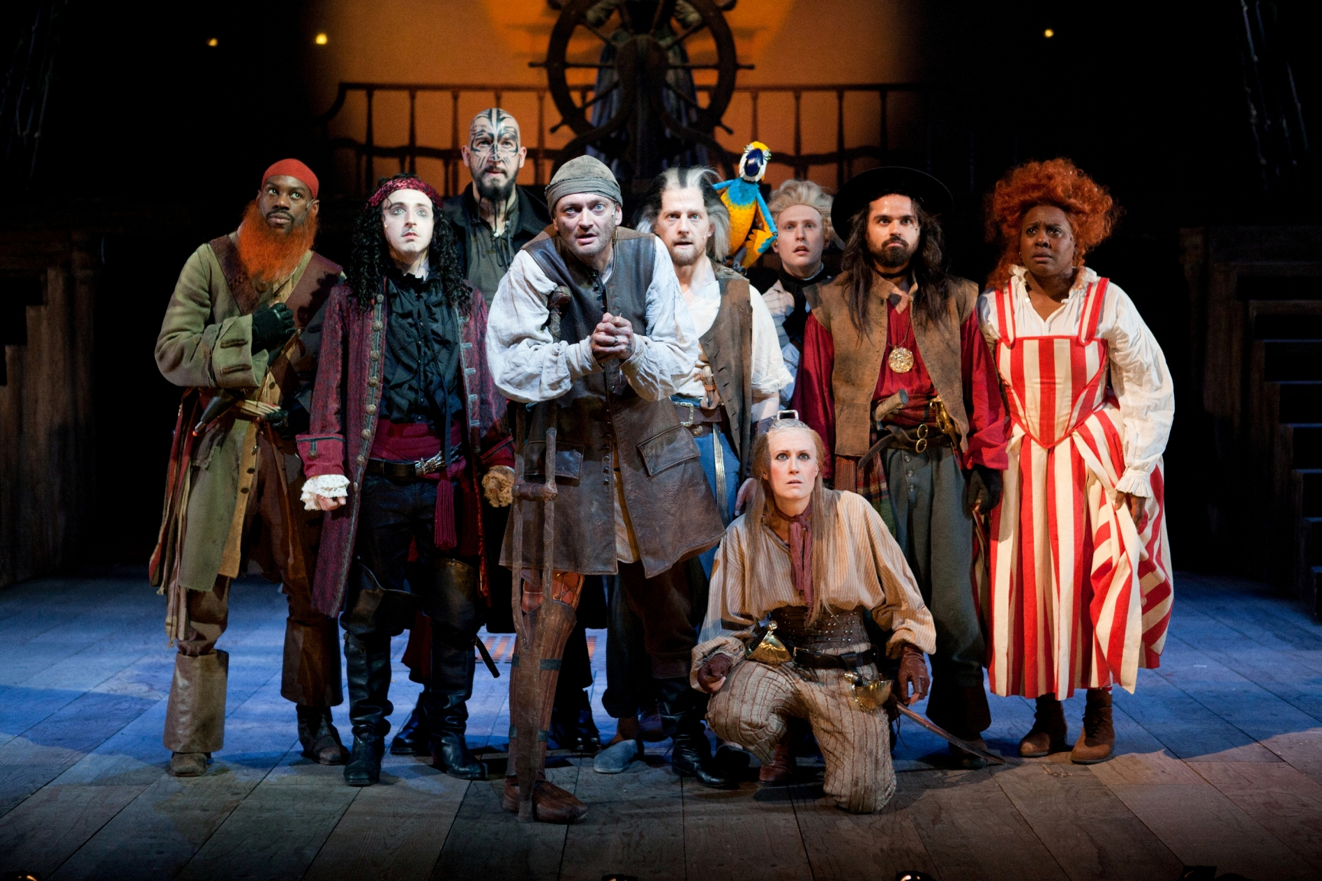 Treasure Island by Bryony Lavery, The Birmingham Repertory Theatre, 25 Nov 2016 - 7 Jan 2017. Cast: Pete Ashmore; Greg Coulson; Andrea Davy; Anni Domingo; Ru Hamilton; Dave Fishley; Michael Hodgson; Kaitlin Howard; Sian Howard; Andrew Langtree; Sarah Middleton; Tonderai Munyevv; Suzanne Nixon; Daniel Norford; Dan Poole; Thomas Pickles; Nicholas Prasad; Barnaby Southgate. Directed by Phillip Breen. Designed by Mark Bailey.