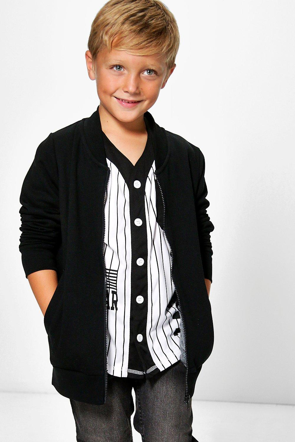Boys Smart Bomber Jacket £10 Click to visit Boohoo