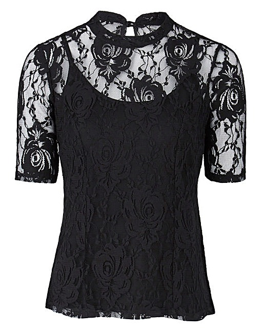 JOANNA HOPE Lace Top £35 Click to visit Simply Be