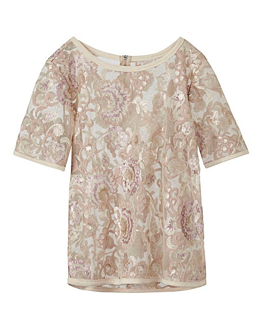 Nude/Pink Sequin Shell Top £35 Click to visit Simply Be