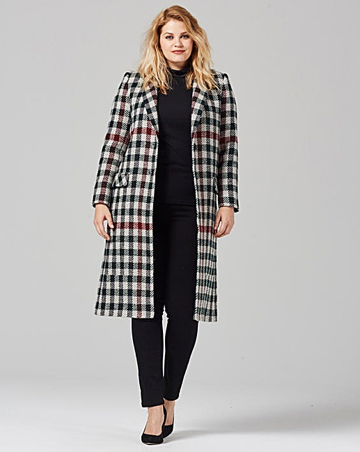 Helene Berman Plaid Longline Coat £159 Click to visit Simply Be