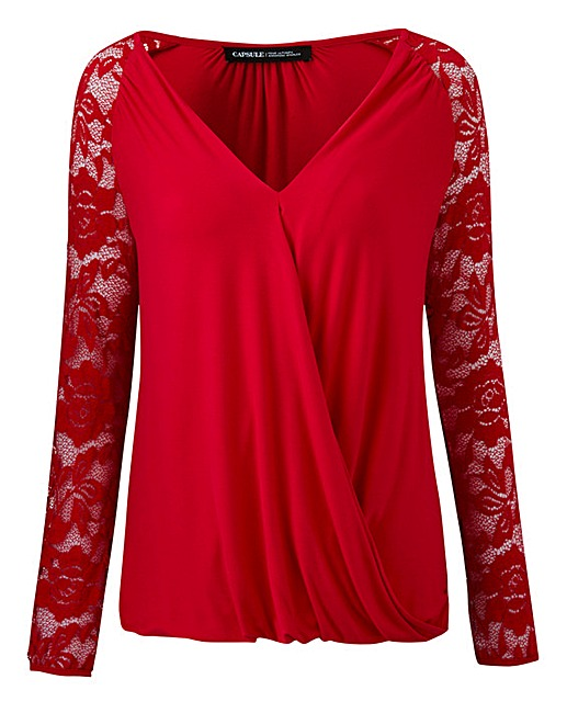 Lace Sleeve Wrap Top £20 Click to visit Simply Be