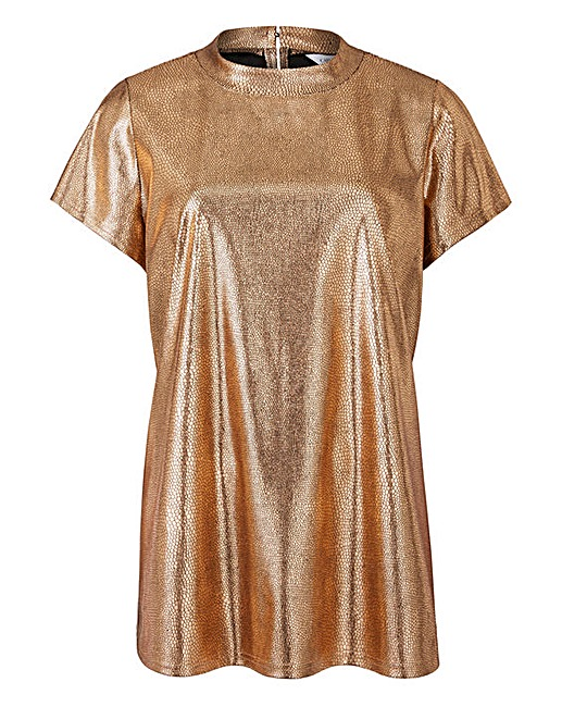 Metallic Boxy Top £22 Click to visit Simply Be